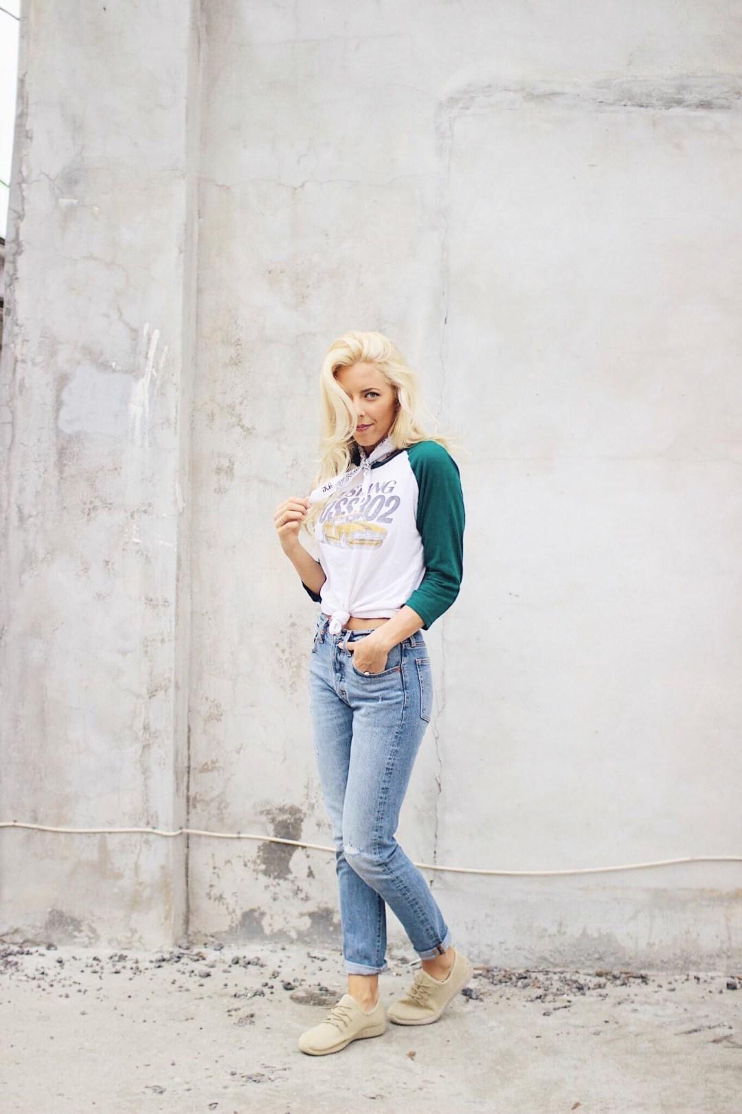 Oli Rose Design, Bandana, Bandana outfit, Charleston Blogger, 501 Levis