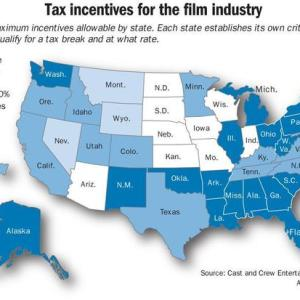 States with Tax Incentives for Film Industry (as of Jan. 2015)