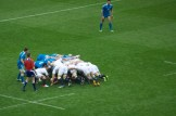 Care feeds in at a scrum