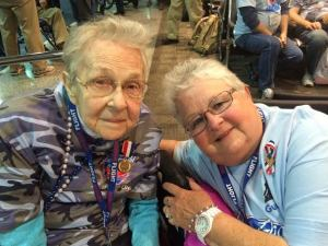 Marjorie and Patty Levine May 2015