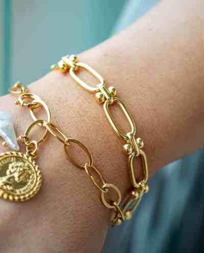 Gouden armband 'Percentage' van Goldplated messing