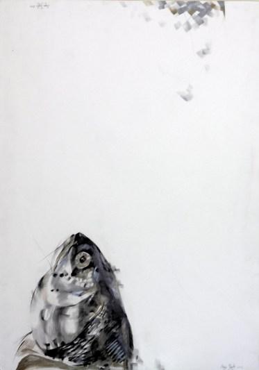 djerdji_acaji-homo-ihtis1, 100x70cm, srebrna,zlatna, grafit, 2012.god. (1)