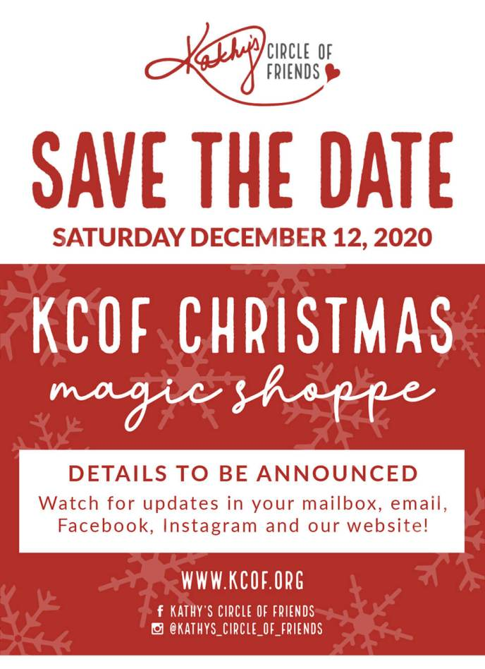 Save The Date Saturday, December 12th   KCOF Christmas Magic Shoppe