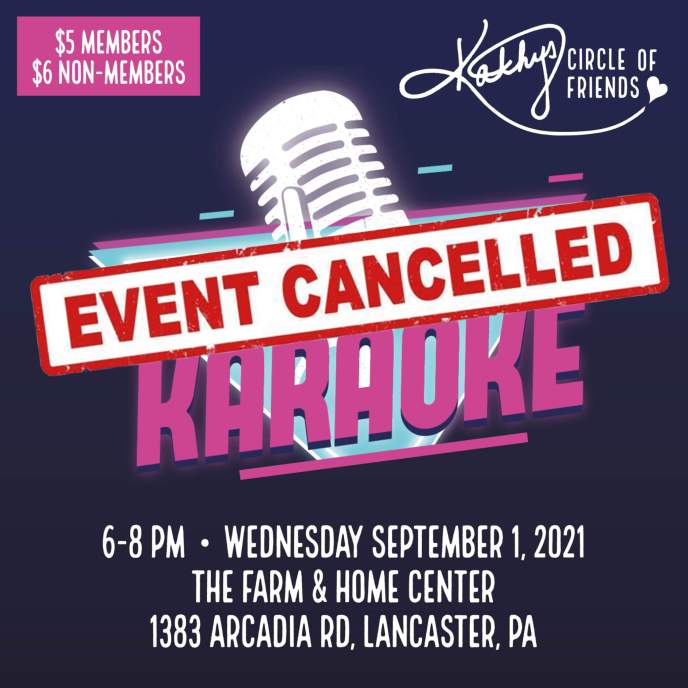 CANCELLED DUE TO WEATHER - Karaoke Night