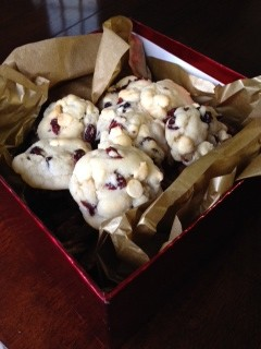 Sweet Freedom: Cranberry white chocolate cookies