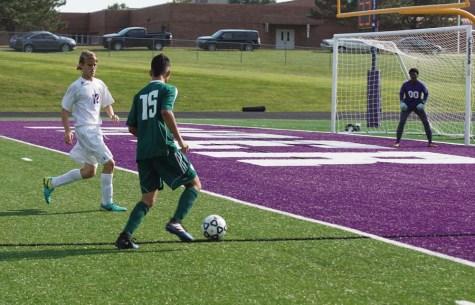 JV soccer takes on De Soto High School