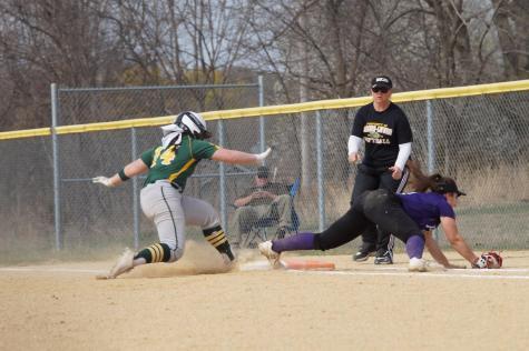 Varsity softball plays versus Basehor