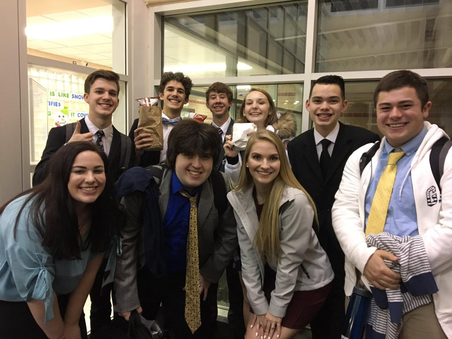 Piper Debate prepares for the State Debate  Tournament at Fort Scott.