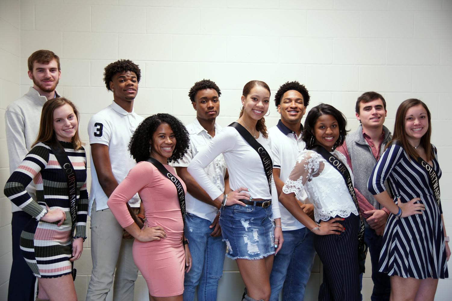 BACK ROW (left to right) Charlie Connor, Braijion Barnes, Tyrone Bates, Esrom Griffin, Kimball Backus. FRONT ROW (left to right) Grace Hawley, Jada Simmons, LaKya Leslie, Charity Monroe, Josie Barbosa