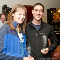Peter Monshizadeh and Lindsay Pruitt won the Beginners Class.