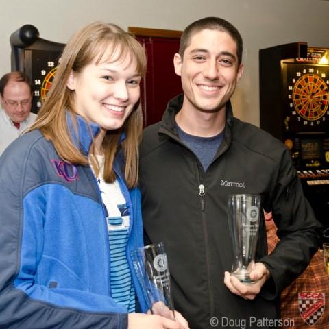 Peter Monshizadeh and Lindsay Pruitt won the Beginners Class.