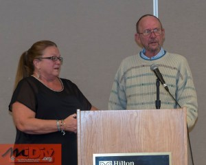Ron and Monica Shaw excepting the 2017 Member of Excellence Award