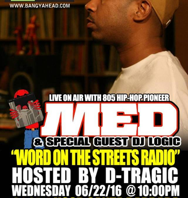 This Week on WORD ON THE STREETS RADIO: MED and DJ Logic