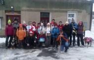 Turisté vyrazili na zimní výšlap k Paseckému vodopádu