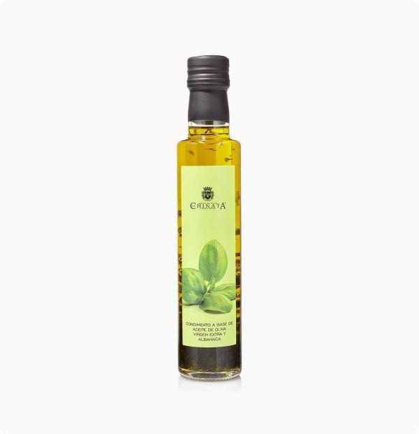 condimento a base de aceite de oliva virgen extra y albahaca la chinata