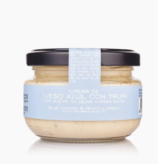 crema de queso azul con trufa con aceite de oliva virgen extra la chinata