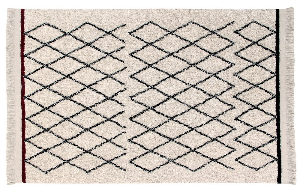 tapis berbere noir blanc lavable lorena canals bereber crisscross 120 x 170 cm kdesign