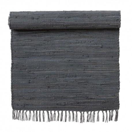 tapis descente de lit chindi coton recycle gris bungalow denmark kdesign