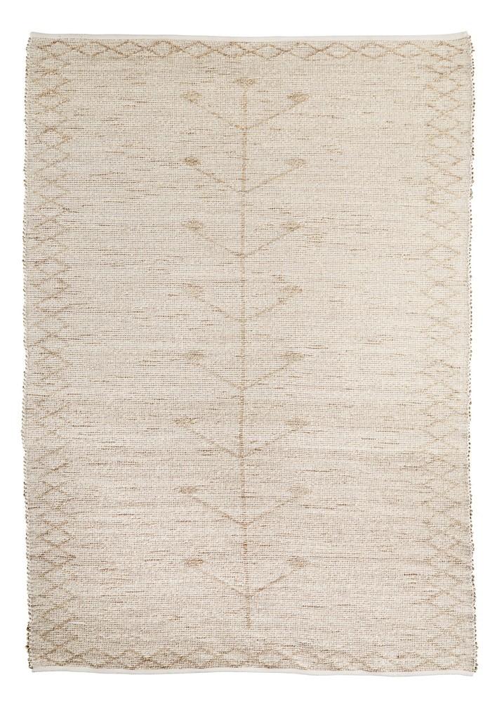 madam stoltz grand tapis jonc de mer beige ecru brode 180 x 270 cm kdesign