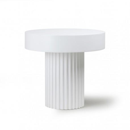 hk living pillar table basse d appoint ronde blanche bois kdesign