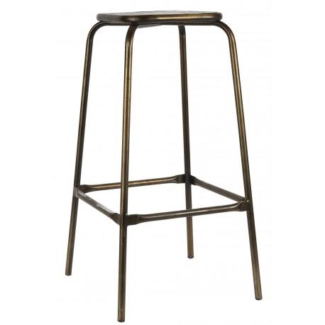 tabouret de bar vintage metal bois ib laursen kdesign