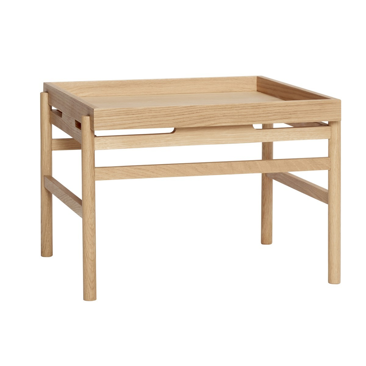 hubsch table basse carre style scandinave bois clair kdesign