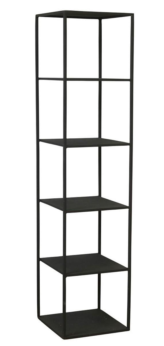 house doctor rack d etagere colonne 5 cases metal noir industriel kdesign
