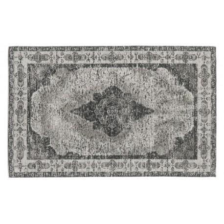 nordal petit tapis descente de lit vintage classique delave gris kdesign
