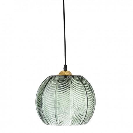 bloomingville suspension verre strie vert style art deco vintage kdesign