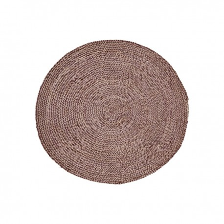 house doctor petit tapis rond rouge chanvre structure kdesign