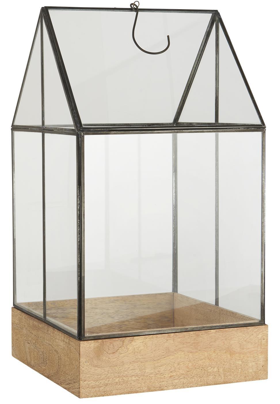 mini serre d interieur verre metal noir bois ib laursen kdesign