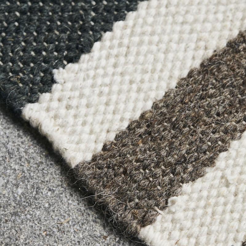 house doctor coto tapis motif ethnique chic laine coton brun gris ecru kdesign