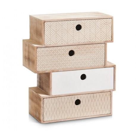 Zeller Schubladenelement Nordic 4 Er Holz Mdf Natur 34 X 15 X 40 Cm Kdesign