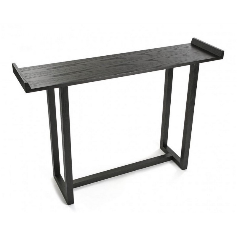 table d entree console bois noir versa elgin kdesign