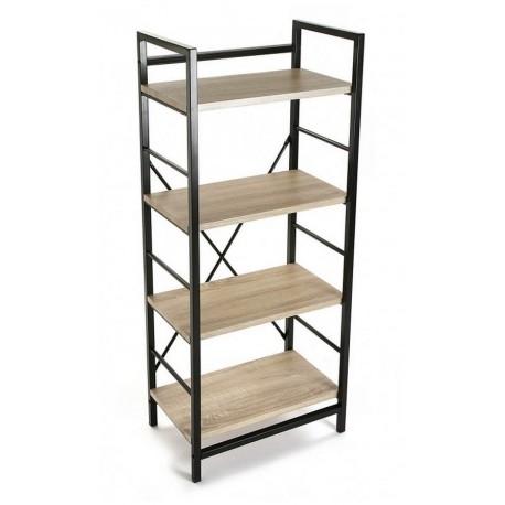 etagere metal noir bois 4 niveaux versa 20880011 kdesign