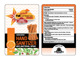 Hand Sanitizer label front and back