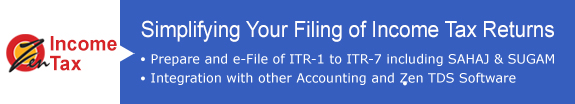 Income tax return filing software
