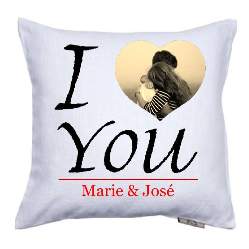 Coussin Personnalis Pas Cher Coussin I Love You