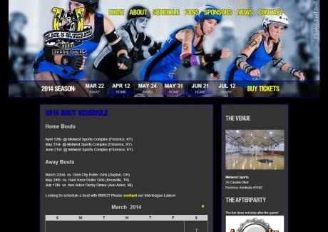 BBRG  Schedule Page