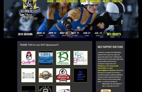 Black-n-Bluegrass Roller Girls sponsors page
