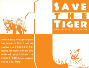 Save the Tiger Typography Poster