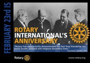 Rotary's Anniversary