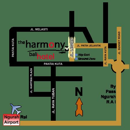 Peta Harmony Legian