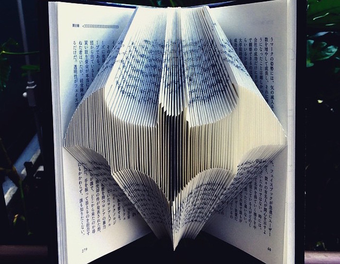 Pagine Accuratamente Piegate Trasformano I Libri In Sculture