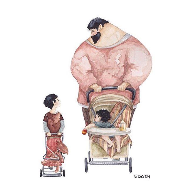 ilustraciones de familias
