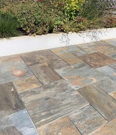 kebur contempo natural copper slate paving
