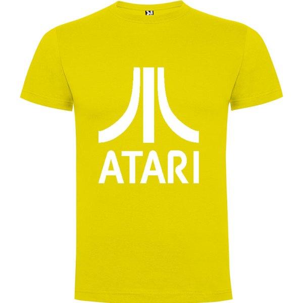 Camiseta para hombre arcade ATARI en color Amarillo y logo en blanco