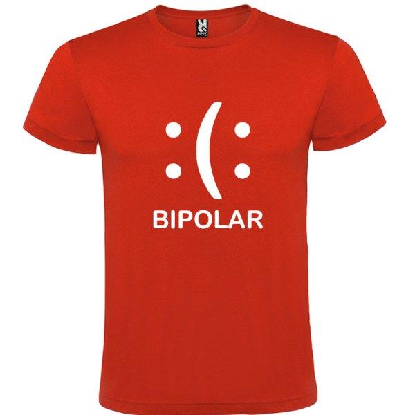Camiseta Hombre bipolar en rojo