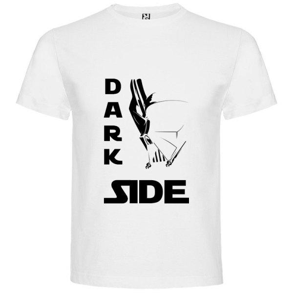 Camiseta para hombre Dark Side death's star en color blanco