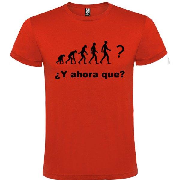 Camiseta hombre evolución Roja logo Negro